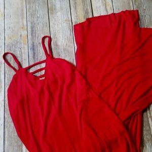 🔥EUC Rachel Pally Sexy Red Ladder Maxi Dress MED